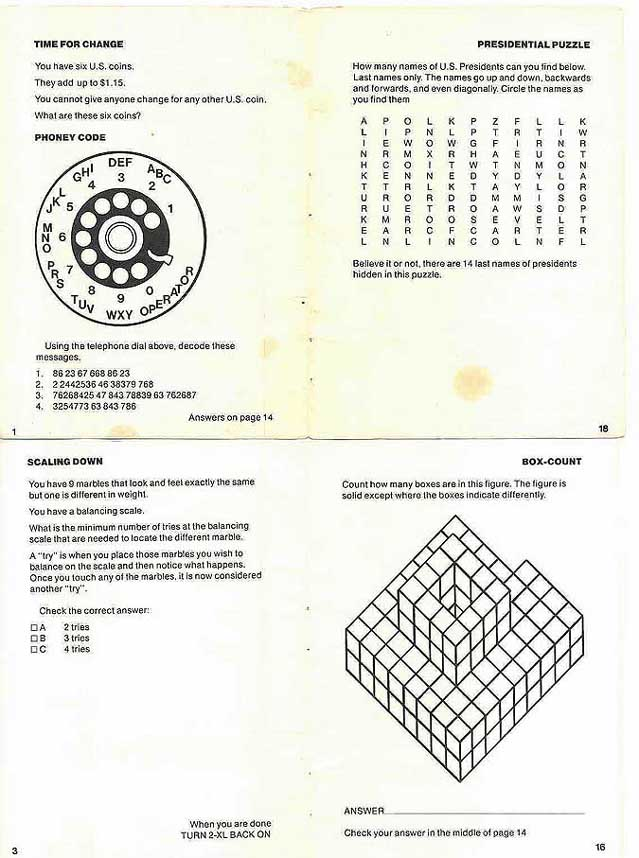 World of 2 xl mego 2 xl program adult games puzzles printable page 1 back ccuart Gallery